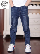 trousers Spangul male 110cm 120cm 130cm 140cm 150cm 160cm 170cm 180cm spring and autumn trousers Korean version There are models in the real shooting Jeans Leather belt middle-waisted Cotton elastic denim Don't open the crotch Cotton 75.3% polyester 23.3% polyurethane elastic fiber (spandex) 1.4%