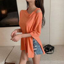 Lace / Chiffon Summer 2021 White orange S M L XL Short sleeve commute Socket singleton  easy Regular other routine 18-24 years old Yi Chopin 17851*+*56+9 Korean version 96% and above Other 100%