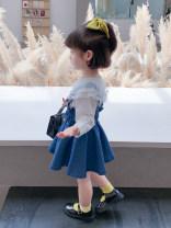 Dress blue female Tongsen Tongma 90cm,100cm,110cm,120cm,130cm,140cm Other 100% spring and autumn leisure time Strapless skirt Denim Strapless skirt TSXP1665-1 Class B 18 months, 2 years old, 3 years old, 4 years old, 5 years old, 6 years old, 7 years old, 8 years old
