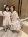 Parent child fashion Black and white Women's dress female Ciel & Dora / shire and Dora 90cm 100cm 110cm 120cm 130cm 140cm mom one size fits all summer Korean version routine Solid color skirt Average size Summer 2021 Chinese Mainland
