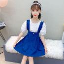 Dress Khaki blue female Ozb / orange bear 110cm 120cm 130cm 140cm 150cm 160cm Other 100% summer college Strapless skirt cotton Strapless skirt JZX21-03302 4 years old, 5 years old, 6 years old, 7 years old, 8 years old, 9 years old, 10 years old, 11 years old, 12 years old, 13 years old, 14 years old