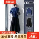 Customized sweater S,M,L Black wool medium length umbrella skirt, coffee wool medium length umbrella skirt