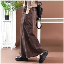 Casual pants Gray, black XL 130-150kg, m 90-110kg, l 110-130kg trousers Wide leg pants High waist 6DCECF07