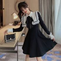 Dress Winter 2020 Picture color S,L,M longuette singleton  Long sleeves Sweet Admiral Others 18-24 years old Type A Stitching, lace