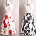 skirt Spring 2020 S,M,L,XL,2XL longuette Versatile High waist Umbrella skirt Decor Type A 31% (inclusive) - 50% (inclusive) brocade Other / other polyester fiber Stitching, printing