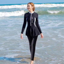 one piece  yobel M,L,XL,XXL,XXXL,4XL black No steel support, no chest pad other female Long sleeves Competitive swimsuit other