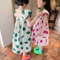 Dress Green, black, pink female Other / other 90cm,100cm,110cm,120cm,130cm,140cm Cotton 90% other 10% summer Korean version Skirt / vest Fruits cotton Skirt / vest Class B 18 months, 2 years old, 3 years old, 4 years old, 5 years old, 6 years old, 7 years old, 8 years old, 9 years old, 10 years old