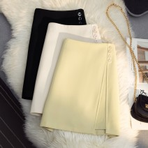 skirt Spring 2021 S,M,L,XL Black, apricot, yellow Short skirt commute High waist A-line skirt Solid color Type A 25-29 years old 51% (inclusive) - 70% (inclusive) Chiffon polyester fiber zipper Korean version