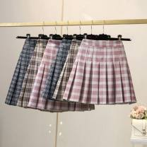 skirt Spring 2021 XXS,XS,S,M,L,XL,2XL,3XL Short skirt Versatile High waist Pleated skirt lattice Type A 25-29 years old 51% (inclusive) - 70% (inclusive) other other 401g / m ^ 2 (inclusive) - 500g / m ^ 2 (inclusive)
