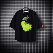 T-shirt White black grey Ou Yangfeng 130cm 140cm 150cm 160cm 170cm male summer Short sleeve Crew neck leisure time No model nothing cotton printing Cotton 100% OYF20B-YY0249 Class B Summer 2021 Chinese Mainland Flanging Totem Zhejiang Province Hangzhou