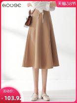 skirt Spring 2021 XS 1'9, s 2's, M 2'1, L 2'2, XL 2'3, 2XL 2'4 Black, apricot Mid length dress commute High waist Pleated skirt Solid color Type A 18-24 years old 71% (inclusive) - 80% (inclusive) Kooge polyester fiber zipper Korean version