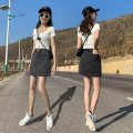 skirt Spring 2020 XS,S,M,L,XL,XXL Short skirt Versatile High waist A-line skirt Solid color Type A 18-24 years old More than 95% other