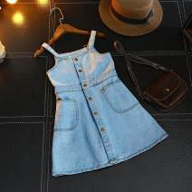 Dress Picture color female Other / other 100-7,110-9,120-11,130-13,140-15 Other 100% summer Denim skirt AF670 Class B 2 years old, 3 years old, 4 years old, 5 years old, 6 years old, 7 years old, 8 years old Chinese Mainland