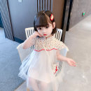 Dress Red yellow female Dalio 90cm 100cm 110cm 120cm 130cm Other 100% summer Chinese style Short sleeve Plants and flowers cotton Irregular Summer 2021 12 months, 6 months, 9 months, 18 months, 2 years, 3 years, 4 years, 5 years, 6 years Chinese Mainland Zhejiang Province Huzhou City