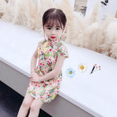 cheongsam 80 90 100 110 120 130 Picture color Other 100% Dalio There are models in the real shooting summer Broken flowers other Summer 2021 12 months, 6 months, 9 months, 18 months, 2 years, 3 years, 4 years, 5 years, 6 years Chinese Mainland