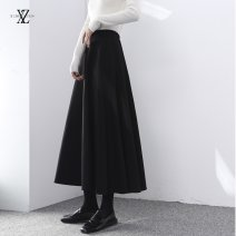 skirt Winter 2020 S,M,L,XL,XXL Black spring and autumn, black summer thin, apricot spring and autumn, blue spring and autumn Mid length dress Versatile High waist A-line skirt Solid color Type A 25-29 years old XZ-AA-Q25 81% (inclusive) - 90% (inclusive) other Other / other polyester fiber