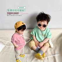 T-shirt Green short sleeve , Pink short sleeve A Xiaoxuan Size 74, size 80, Size 90, size 100, Wu shoot more new products, pay attention to VX: a1xxyt neutral summer Short sleeve There are models in the real shooting cotton other other other Chinese Mainland Jiangsu Province Nanjing City