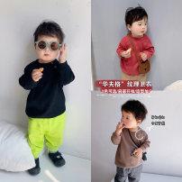 T-shirt A Xiaoxuan Size 74, size 80, Size 90, size 100, Wu shoot more new products, pay attention to VX: a1xxyt neutral spring and autumn Long sleeves leisure time There are models in the real shooting nothing cotton other other other Chinese Mainland Jiangsu Province Nanjing City