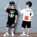 suit Karudi Curve black curve white colorful black colorful white Ke black Ke red doghead black doghead white 110cm 120cm 130cm 140cm 150cm 160cm 170cm male summer leisure time Short sleeve + pants 2 pieces Thin money There are models in the real shooting Socket nothing Cartoon animation cotton
