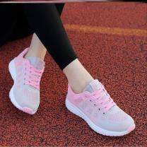 Low top shoes 35,36,37,38,39,40,41,42 Other / other Round head Mesh Flat bottom Low heel (1-3cm) Shallow mouth cotton Summer 2020 Frenulum Korean version Adhesive shoes Youth (18-40 years old) Color matching EVA Net shoes cloth
