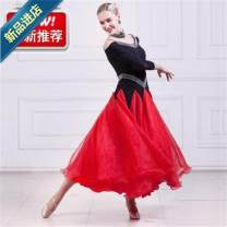 Modern dance suit (including performance clothes) Other / other Waltz, tango, Foxtrot, trot female Red, other colors can be customized S,M,L,XL,XXL,XXXL Sequins k9vUG5Gj