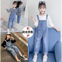 trousers Other / other female 110cm,120cm,130cm,140cm,150cm,160cm,170cm spring and autumn trousers Korean version Jeans High waist Don't open the crotch Cotton 80% polyester 20% Class B Model 1 14 years old Chinese Mainland