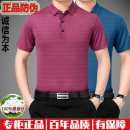 T-shirt Business gentleman thin 165/80A,170/84A,175/88A,180/92A,185/96A,190/100A Others Short sleeve Lapel standard daily summer youth routine Business Casual 2021 stripe Embroidered logo mulberry silk No iron treatment International brands