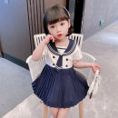 Dress female 90cm 100cm 110cm 120cm 130cm Other 100% summer Korean version Short sleeve Solid color cotton A-line skirt other Spring 2021 12 months, 18 months, 2 years old, 3 years old, 4 years old, 5 years old, 6 years old Chinese Mainland Zhejiang Province Huzhou City