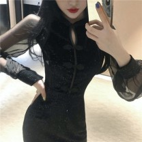 Dress Autumn of 2019 black S,M,L Other / other