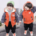 Cotton padded jacket male No detachable cap Cotton 91% - 95% Other / other The orange cotton clothes are cute, the coffee cotton clothes are cute, and the off white cotton clothes are cute 90cm,100cm,130cm,110cm,120cm thickening Zipper shirt Korean version There are models in the real shooting
