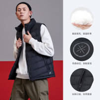 Down vest male S,M,L,XL,XXL,XXXL,XS,4XL,5XL,6XL,7XL,8XL,9XL,10XL Bull red-5, standard black, bull red, Holly red, elephant grey AMRN033-1 Other / other Winter of 2018 stand collar Brand logo zipper keep warm Basketball series polyester fiber