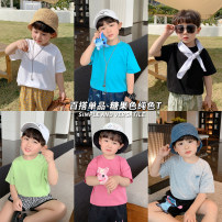 T-shirt luson 80cm,90cm,100cm,110cm,120cm,130cm,140cm male summer Short sleeve literature nothing other other Other 100% 12 months, 18 months, 2 years old, 3 years old, 4 years old, 5 years old, 6 years old, 7 years old