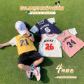 T-shirt Navy blue, temperament white, gradually like powder, mango yellow, temperament white, gradually like powder, mango yellow and navy blue luson 80, 90, 100, 110, 120, 130, 140 male summer Short sleeve Crew neck leisure time There are models in the real shooting nothing other number Other 100%
