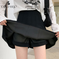 skirt Spring 2021 S,M,L,XL Short skirt commute High waist Pleated skirt Solid color Type A 25-29 years old EFJP2021CJ0072 More than 95% Other / other other Pleating, asymmetry, zipper, stitching