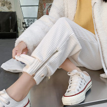 Casual pants Black, apricot, brown S,M,L,XL,2XL,3XL,4XL Autumn 2021 trousers Wide leg pants High waist commute routine 18-24 years old 51% (inclusive) - 70% (inclusive) R6136 corduroy Korean version