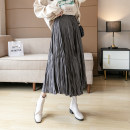 skirt Winter 2020 S M L XL 2XL Grey black off white coffee Mid length dress commute High waist A-line skirt Decor Type A 25-29 years old More than 95% Memory for clothes other Korean version Other 100% Pure e-commerce (online only)