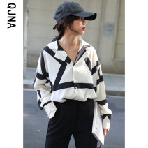 shirt Picture color S M L Winter 2020 other 96% and above Long sleeves commute Regular other Single row multi button routine stripe 18-24 years old Straight cylinder Qingjiaona Korean version Other 100% Pure e-commerce (online only)