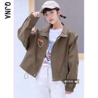 short coat Winter 2020 S M L XL Khaki black Long sleeves routine routine singleton  easy commute routine Polo collar zipper Solid color 18-24 years old Qingjiaona 96% and above QJN07869 other Other 100% Pure e-commerce (online only)