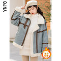 Cotton padded clothes Apricot blue S M L XL Winter 2020 Qingjiaona routine Long sleeves thickening zipper commute other routine Straight cylinder other Korean version zipper 96% and above other 18-24 years old Pure e-commerce (online only) Other 100%