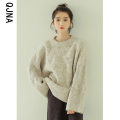 sweater Winter 2020 S M L Grey red Long sleeves Socket singleton  Regular other 95% and above Crew neck thickening commute routine other Straight cylinder Coarse wool Qingjiaona QJN1904 Other 100% Pure e-commerce (online only)