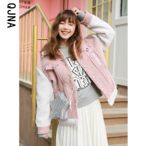 short coat Winter 2020 S M L Camel Pink Long sleeves routine routine singleton  easy commute routine 18-24 years old Qingjiaona 96% and above QJN125 other Other 100% Pure e-commerce (online only)