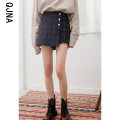 Casual pants lattice S M L Winter 2020 shorts loose  Natural waist commute routine 18-24 years old 96% and above QJN711 Qingjiaona Korean version Other 100% Pure e-commerce (online only) Asymmetry
