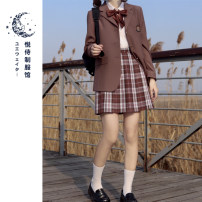 skirt Spring 2021 XS S M L XL Chestnut 42cm chestnut 45cm chestnut 48CM Short skirt Sweet Natural waist Pleated skirt Type A 18-24 years old Chestnut roll chestnut More than 95% Please serve polyester fiber Polyester 100% solar system