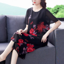Middle aged and old women's wear Summer 2021 Yellow red M L XL XXL XXXL commute suit easy Two piece set Decor 40-49 years old Socket thin Crew neck routine routine NRJ0345# Mu Yixin pocket other Other 100% 96% and above Pure e-commerce (online only) trousers longuette other Simplicity
