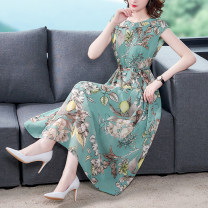 Dress Summer 2021 Decor S M L XL 2XL longuette singleton  Sleeveless commute Crew neck middle-waisted Decor Socket A-line skirt routine 35-39 years old Type A Mu Yixin lady printing XBH8089 More than 95% other Other 100% Pure e-commerce (online only)
