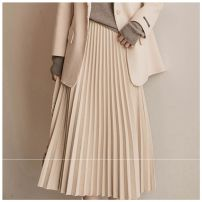 skirt Winter 2020 S,M,L,XL Apricot Mid length dress Versatile High waist A-line skirt Solid color Type A 25-29 years old W26Q5762 More than 95% Wool Other / other polyester fiber