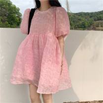 Quick drying suit 51-100 yuan S,M,L,XL Pink, decor, white shirt Summer 2021 five point one one summer female