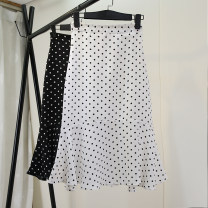 skirt Summer 2021 M L XL XXL S Black and white Mid length dress High waist High waist skirt 18-24 years old More than 95% Structure number other Other 100%