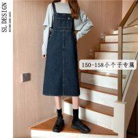 skirt Summer 2021 XS S M L Dark blue dark blue 7021 Mid length dress Versatile High waist Strapless skirt Type H 18-24 years old More than 95% Shuli other pocket Other 100% Pure e-commerce (online only)