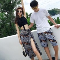 Couple swimsuit Dream of poetry XXL,L,XL,M Women's, men's pants [excluding top] Nylon, polyester, others currency